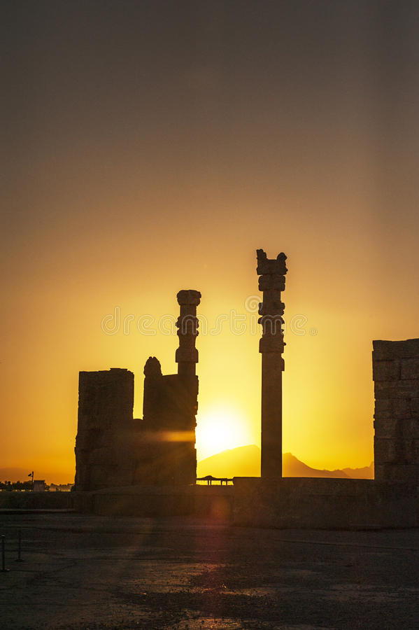 Cucoloris of Persepolis ruins,Shiraz Iran stock photo