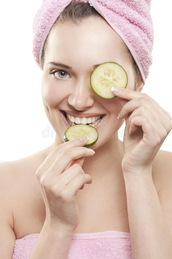 Download Cucumber stock photo. Image of clean, mouth, care, cosmetic - 24124682