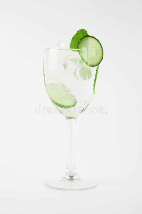 Cucumber cocktail royalty free stock images