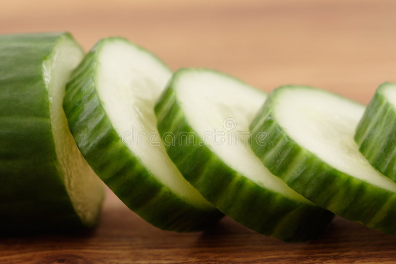 Cucumber on Cutting Board