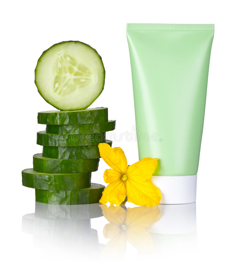 Cucumber Face Mask stock photography
