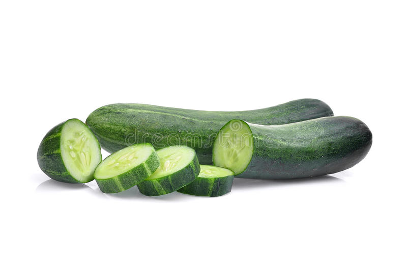 Cucumber isolated on white royalty free stock image