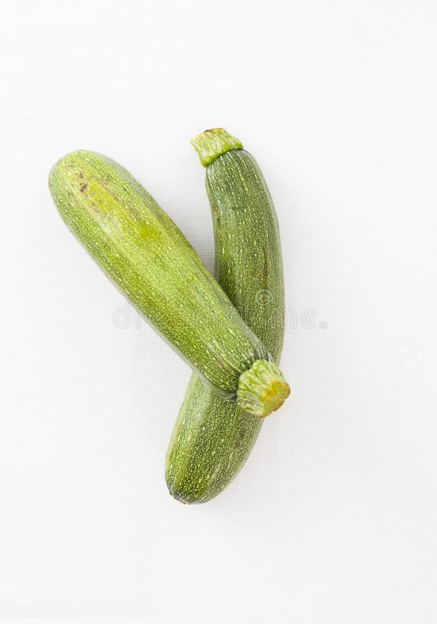 Cucumber isolated on a white background stock photography