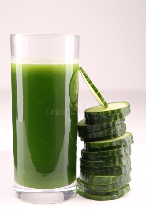 Cucumber juice royalty free stock image