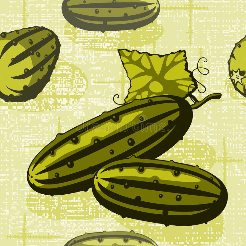 Free Cucumber On A Braided Background Stock Photos - 19465743