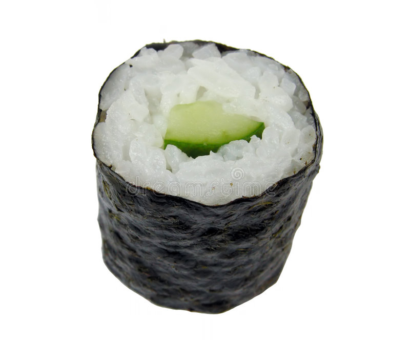 Download Cucumber roll sushi stock photo. Image of seafood, white - 467870