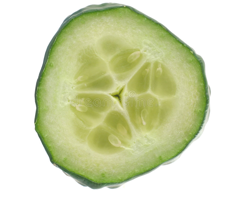 Free Cucumber Slice Details On White Stock Photography - 582602