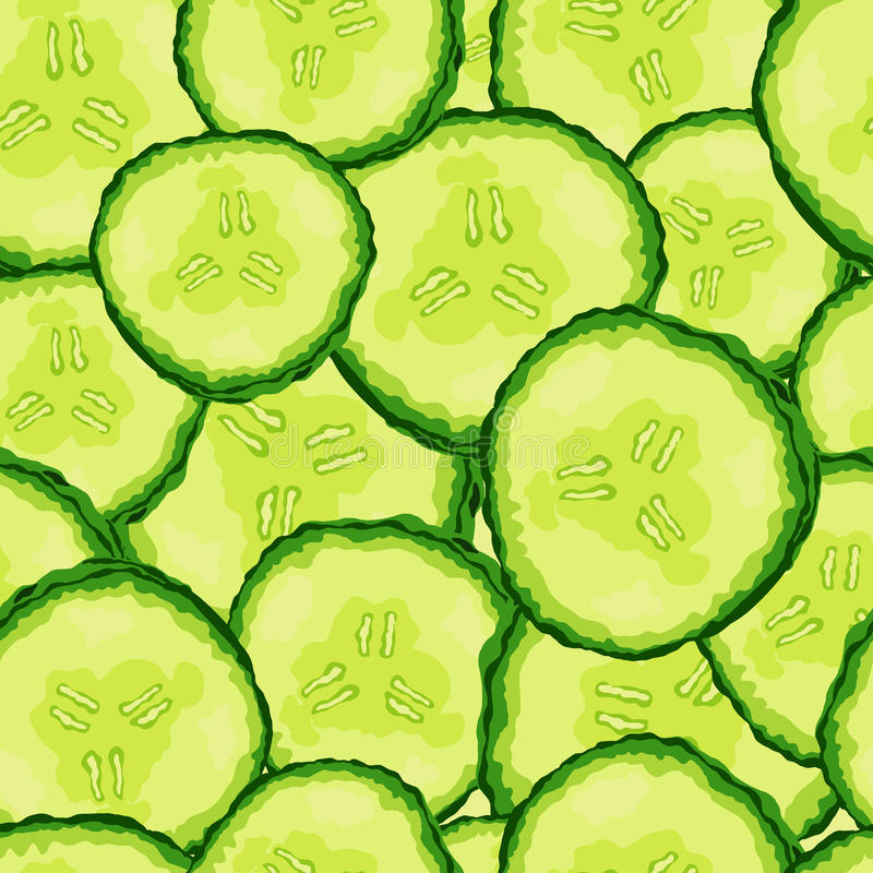 Cucumber slice seamless pattern. Vector illustration. Cucumber slice seamless pattern. Vector illustration background vector illustration