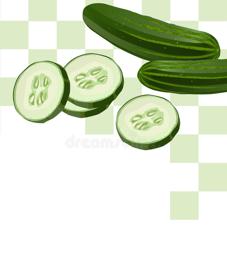 Cucumber With Slices Stock Photos