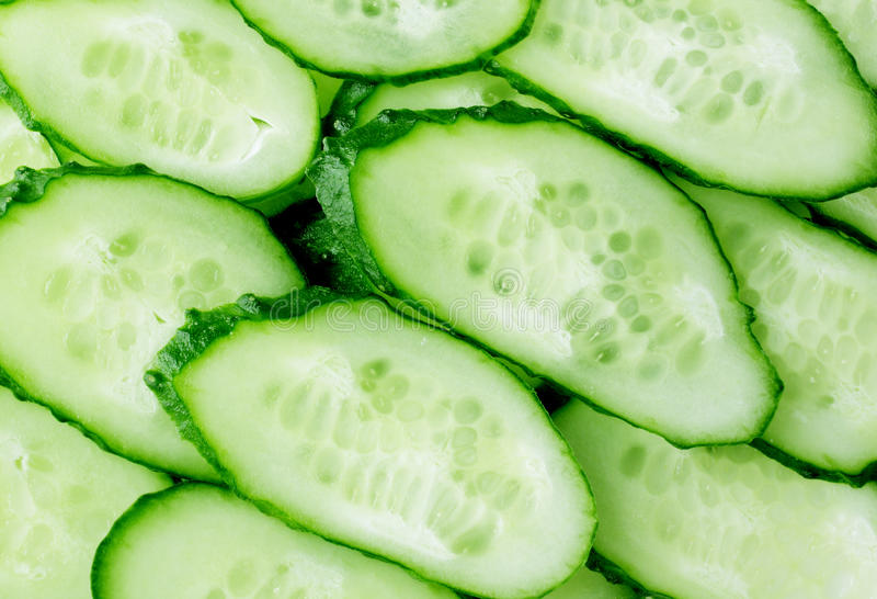 Cucumber slices. Close up image of cucumber slices background royalty free stock photos