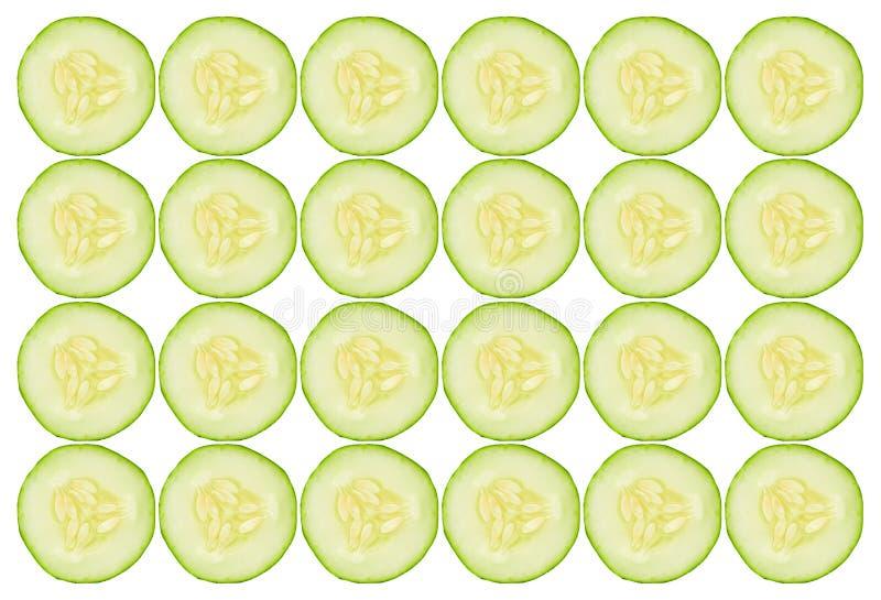 Cucumber Slices Background Stock Photo