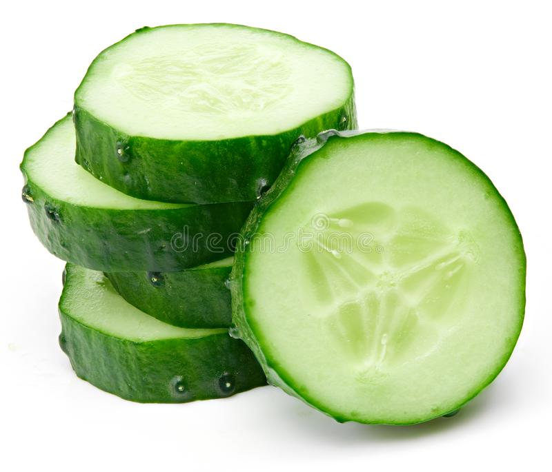 Cucumber and slices royalty free stock image