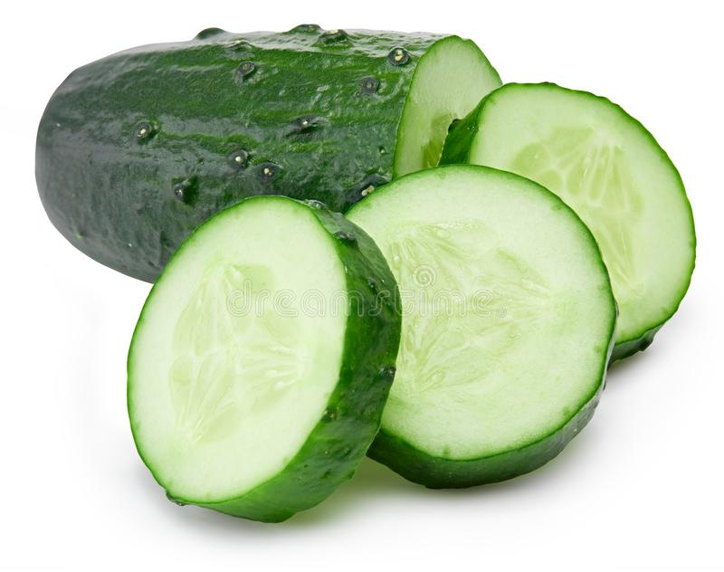 Cucumber and slices stock photography