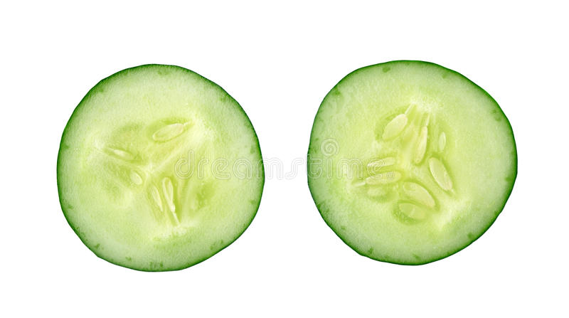 Cucumber and slices stock image