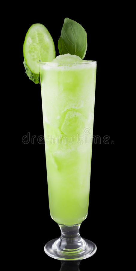 Cucumber smoothie. royalty free stock images