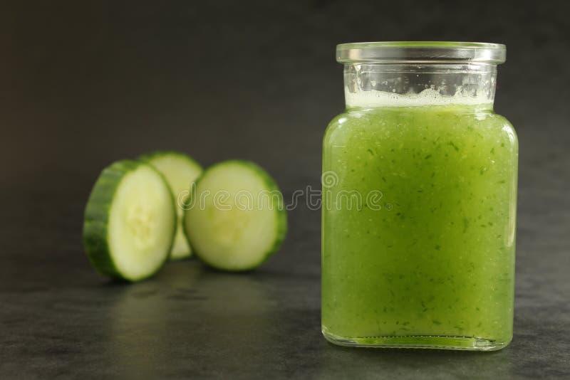 Cucumber smoothie royalty free stock photo