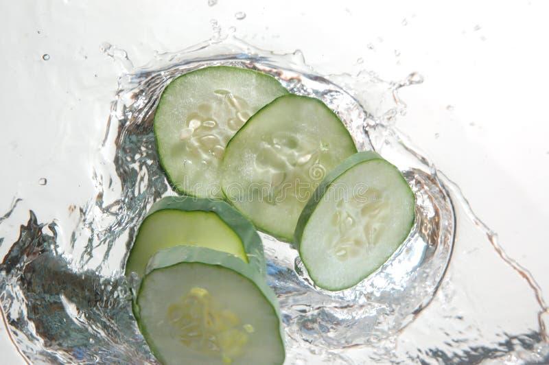 Cucumber Splash Stock Photo