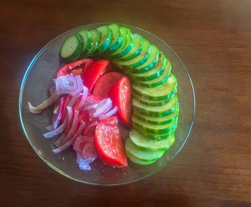 Cucumber Tomato Salad stock photo