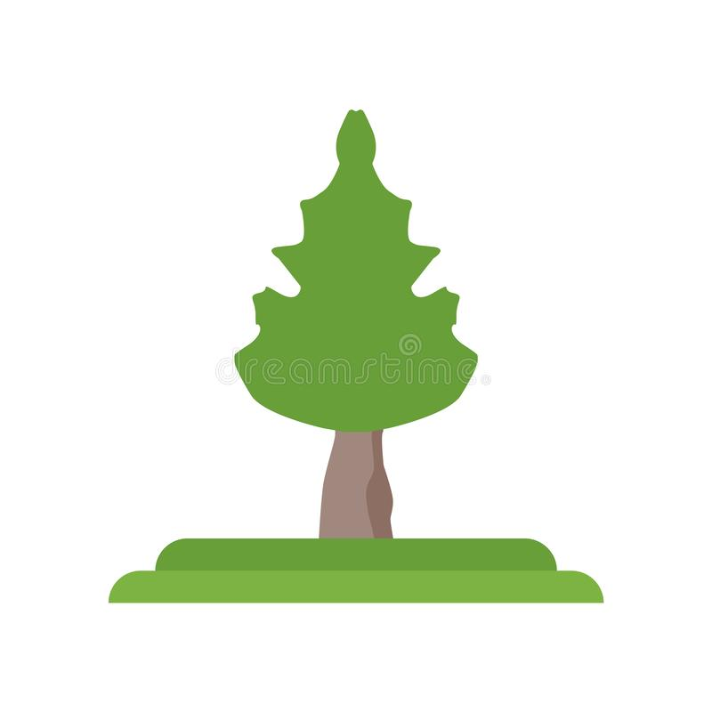 Cucumber Tree tree icon vector sign and symbol isolated on white royalty free illustration