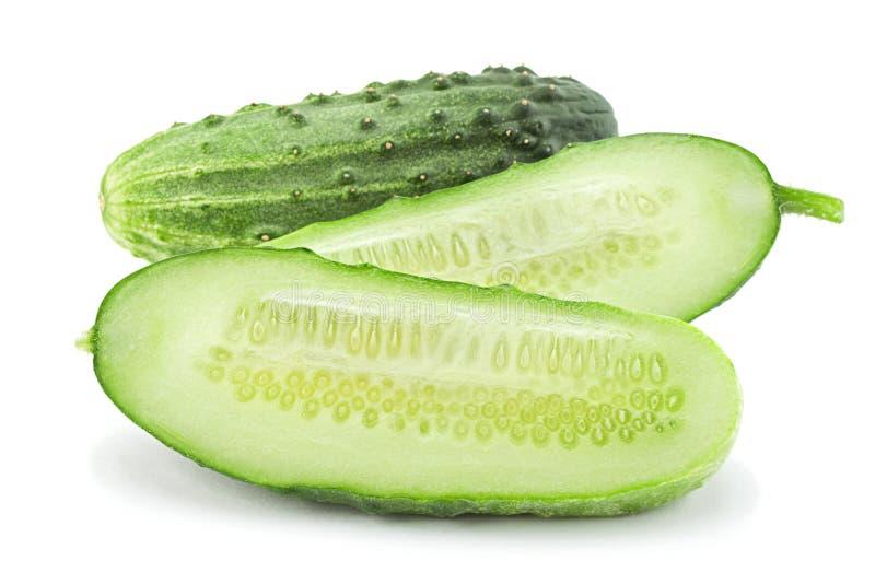 Cucumber vegetable on white stock photo