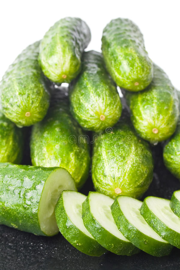 Download Cucumbers stock photo. Image of cucumbers, group, plant - 15598800