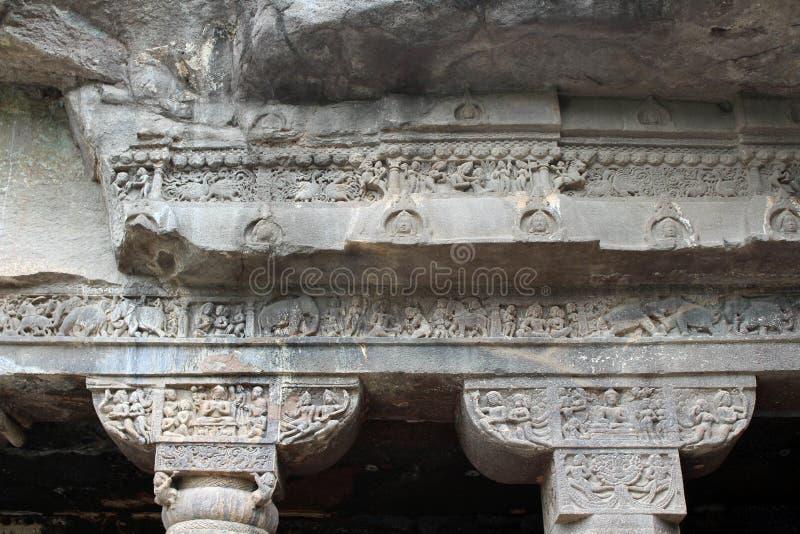 Cud Ajanta zawala się ciący Buddyjscy zabytki obraz royalty free