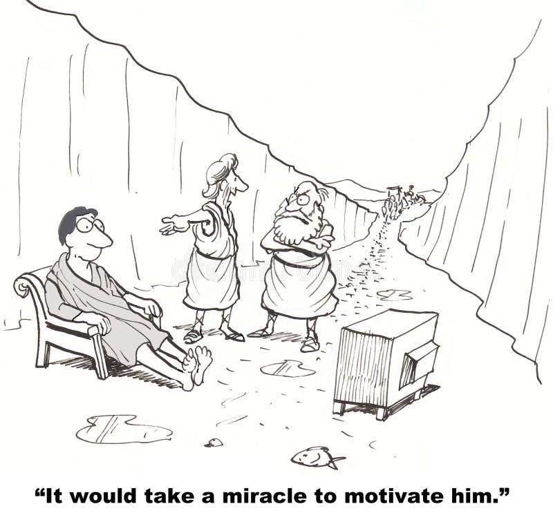 Cud Potrzebujący liderem ilustracja wektor