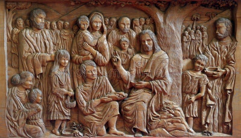Cud przypisujący Jezus obraz royalty free