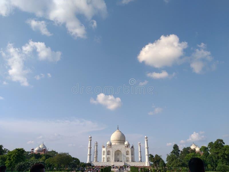 7. cud Tajmahal Agra India obraz stock