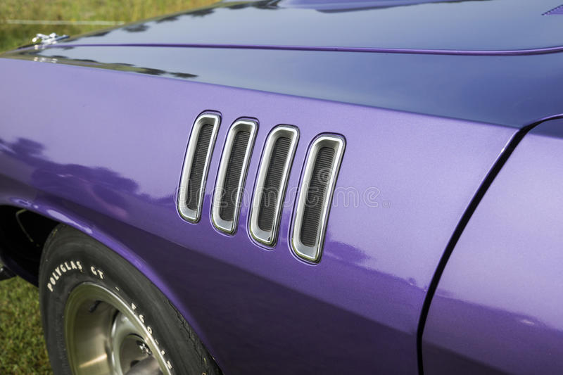 Cuda front fender royalty free stock images