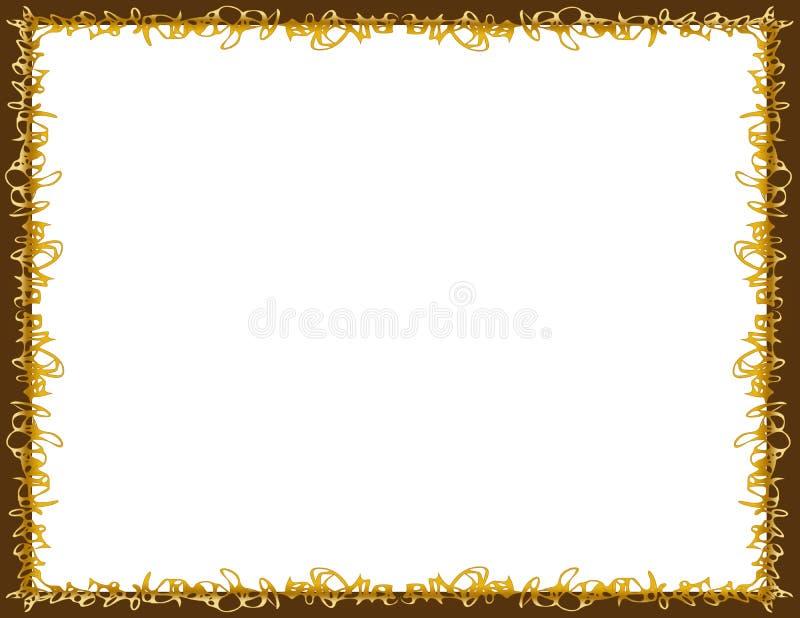 Wirująca karmelu i czekolady granica zdjęcia royalty free