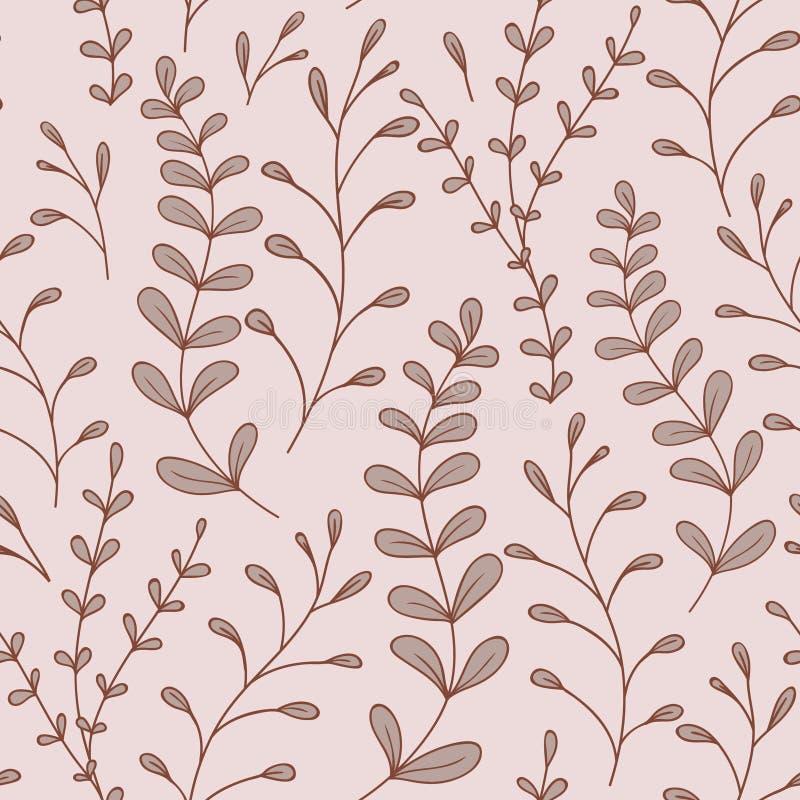 Cudackich liści Bezszwowy wzór royalty ilustracja