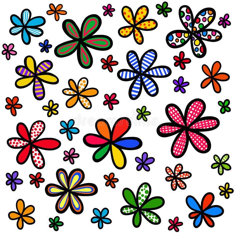 Cudackiego Doodle tła Kwiecisty projekt ilustracji