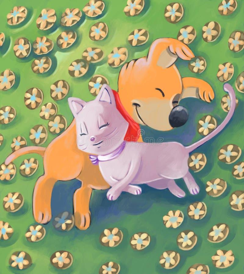 Download Cuddled asleep stock illustration. Illustration of holiday - 7197784