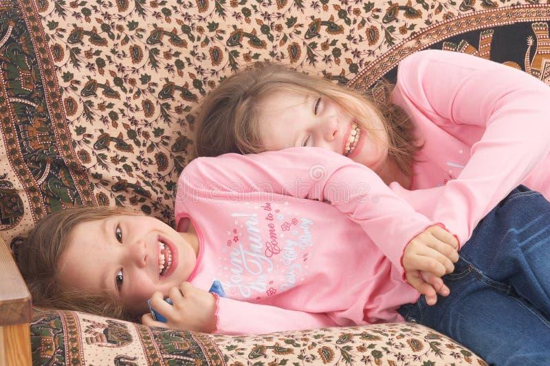 Cuddling stock image