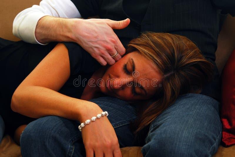 Cuddling obrazy royalty free