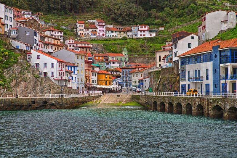 Cudilleros Asturias, Spanien royaltyfria foton