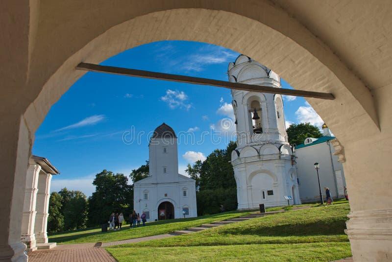 Cudowna architektura i naturalny piękno w muzealnym rezerwowym Kolomenskoye w Moskwa zdjęcie royalty free