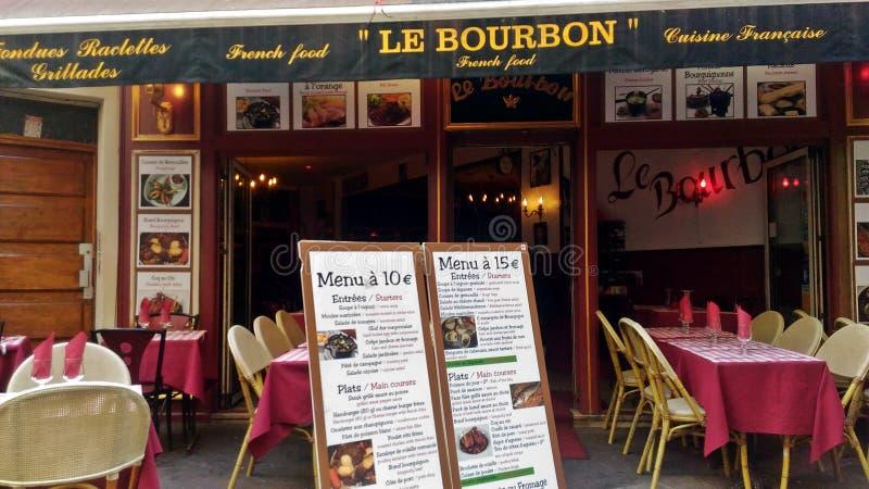 Cudowna Plenerowa Paryjska restauracja zdjęcie royalty free