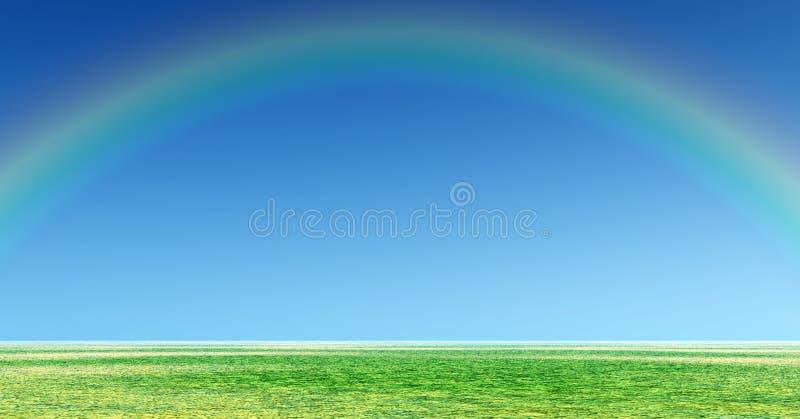 Cudowna tęcza zdjęcie royalty free