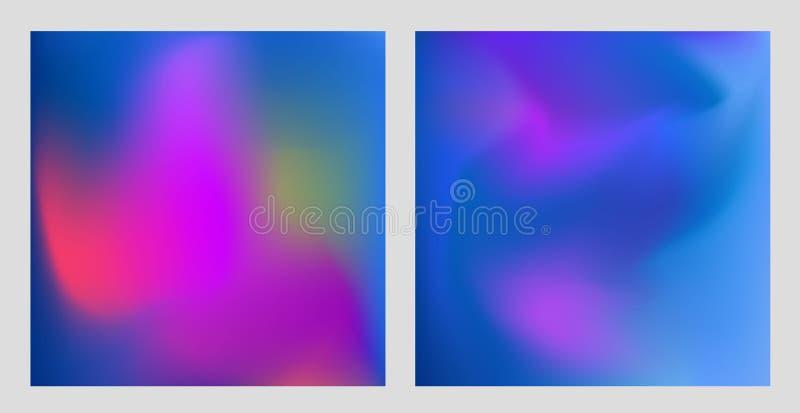 Cudowne kolorowe gradientowe abstrakcjonistyczne b??kit menchii purpury obciosuj? t?o holograficznego ilustracja wektor