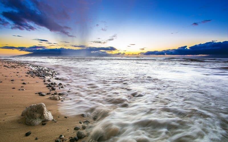 Cudowne plaże na wyspie Maui, Hawaje obraz stock