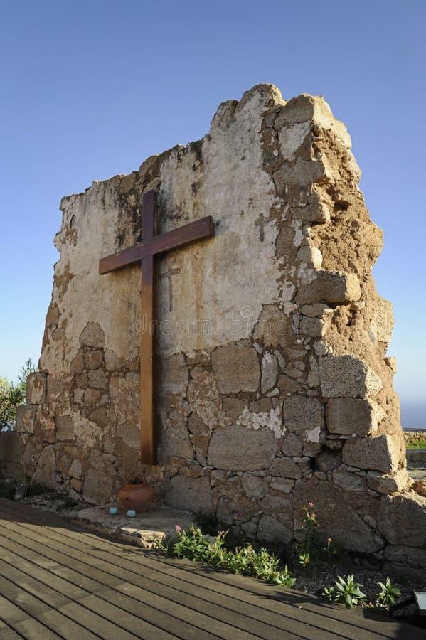 Cudownie utrzymane ruiny San Jose kaplica, Fasnia, Tenerife, wyspy kanaryjska zdjęcia royalty free