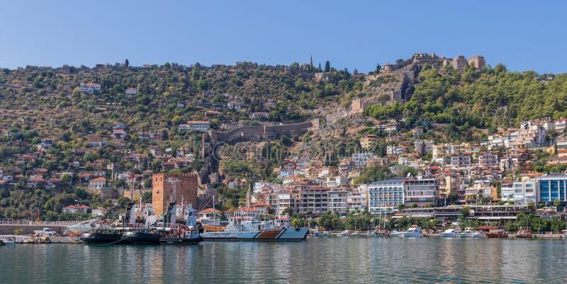 Cudowny brzegowy miasteczko Antalya, Turcja obraz royalty free