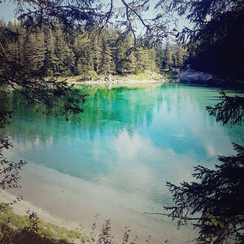 Cudowny jezioro w Austria fotografia royalty free