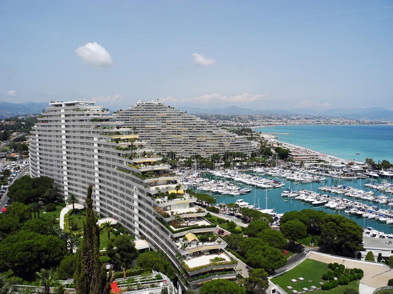 Cudowny Marina Baie des Anges w Francja obrazy stock