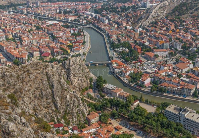 Cudowny Stary miasteczko Amasya, Turcja zdjęcia royalty free