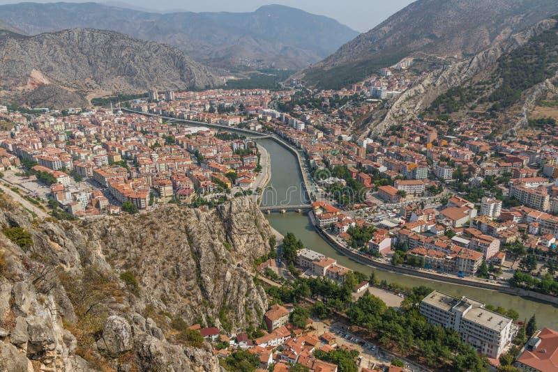 Cudowny Stary miasteczko Amasya, Turcja obraz stock