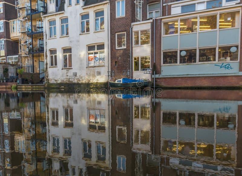 Cudowny Stary miasteczko Amsterdam, holandie zdjęcie stock