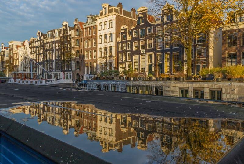 Cudowny Stary miasteczko Amsterdam, holandie obrazy royalty free